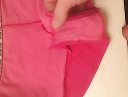 Mommy dirty panties make me shoot a big cumshot eat my first load then cover her dirty panties ...