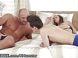 Naomi Bennet wakes up to Tomm & Alessandro Katz blowing each other and decides to join in t...