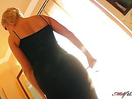 Sylvia is an amazing looking woman dressed in a long black dress. She gets two boys and then st...