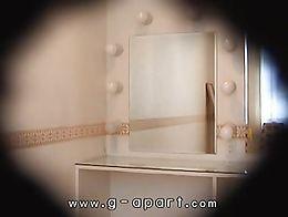 Peeping inside the skirt of a slender Japanese girl Mako Higashio. You can peek at Gals Apartme...