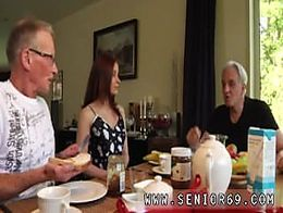 A cumpilation of lovely teens Minnie Manga tongues breakfast with John
