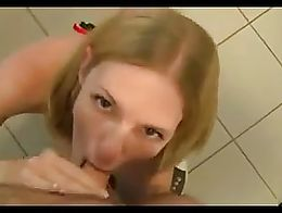Cum on her face- insane german