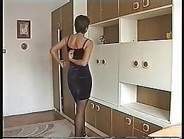 Nice short hair woman,first shotin film.
