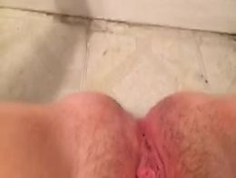 Pissing on the wall ground