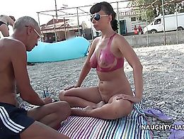 Some people around do not even realized that I was naked in public. Watch the full video on my ...