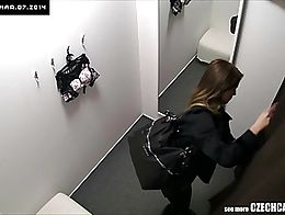 Here is spying the changing rooms! Czech girls fitting on bras, panties and lingerie without ev...