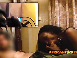 High heels African hooker fucks in an amateur POV video. Antonio likes a black girl in high hee...