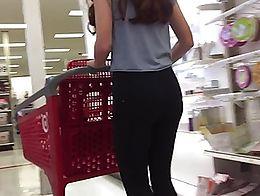 Sexy teen in target soandex tight little ass