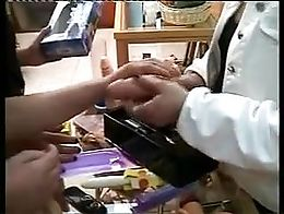 Two married women decide to perform a fantasy with some toys. Old amateur scene, with real hous...