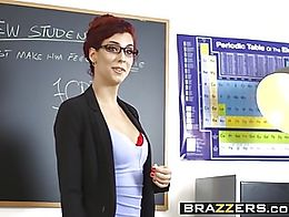 Brazzers - Big Tits at School - Lets Welcome The New Student scene starring Ella Hughes Shona R...