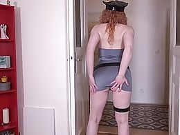 This blazing Czech redhead may dress up nice, but she undresses even better with her all natura...