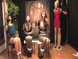 Four beauties bound gagged