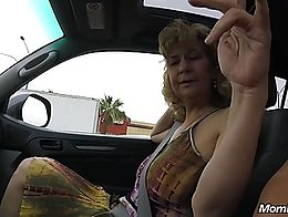 Her other full videos and Hundreds more Hot Amateur MILFs are at MOMPOV