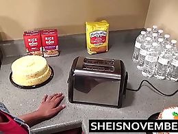 Sexy Ebony Big Tits Step Sister Msnovember Give Blowjob & Sex In Kitchen Cooking. Sex black fuc...