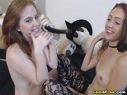 You should watch this two super horny babes having their first time lesbian sex on webcam and i...