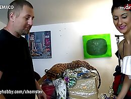 Terry gets his hands on this cute Spanish babe and fucked her hard in a storage room.