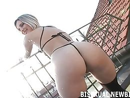 Come to think of it, I quite like this first time bisexual experience. He certainly knows how t...