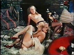 Compilation. 5 Scenes. Familiar US format of MF, Lesbians with dildo and Threesomes.