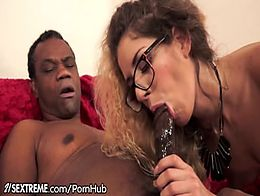 Black Grandpa gets in Tight Euro Teen