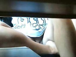 Hidden cam under table