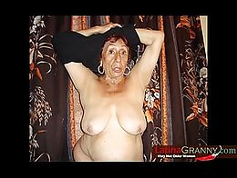 Extremely old latin BBW granny amateur nude pictures collection