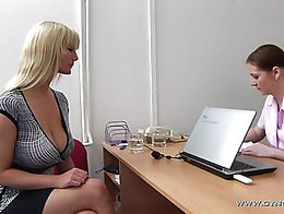 Blonde cougar cunny gaping by gyno physician - 1 part 2