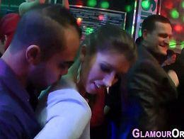 Party slut fucked in orgy