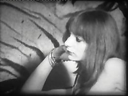 Mid to late '70 british 'softcore' porn on super 8 reel in black and white - starring Jacky Rig...