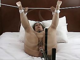 The Hyatt Session Part 3: A little bit of bondage and a lot of fuck machine!