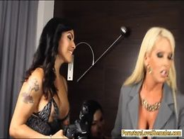 Enormous boobs blonde bitch Alura Jenson orgy with trannies