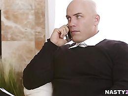 Gina Valentina is hot for teacher Derrick Pierce. She likes to skip his class and masturbate to...
