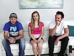 Hussie Auditions: Blonde Teen Daisy Chainz First Sex Scene