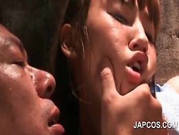 Cute teen asian sex slave submitted to sexual teasing