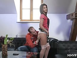 Fantastic brunette with an amazing booty enjoys being slammed by her neighbor. Sexy babe with n...