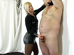 What a gorgeous mistress! A ruined hand job followed by the most exquisite post orgasm torture....