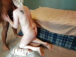 Sweet and sexy divorced mother of four sucked her son's teachers dick while her youth wait...