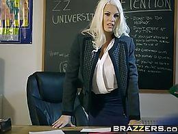 Brazzers - Big Tits at School - Teacher Tease scene starring Blanche Bradburry, Jordi El Niño ...