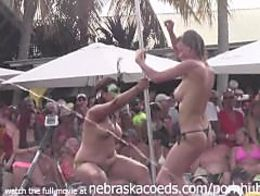Fantasy fest 2013 dantes pool contest hot milfs chicks compete for cas...