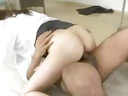 Japanese school teacher fucked by 3 men in classroom