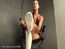 Sasha sock tease