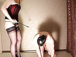 Slave taught to be obidient