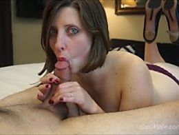 Sexy Wife Licks Suck Cock Wearing Heels