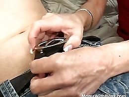 This blonde mature mom was more than glad to comfort this boy when he got kicked out by his gir...