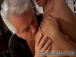 Teen swallows old cum cum After an tiring lesson the 2 get very
