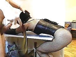 Slaves punish rebellious wives tied ball gagged tied cock 5