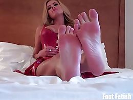 Open your mouth and suck my toes, bitch! You know I have some of the nicest size 10 feet you'll...