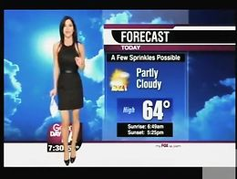 Every male who lives in Los Angeles really likes to see the weather forecast, as the lady who p...