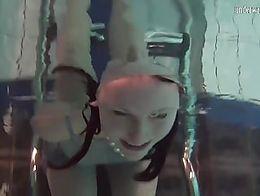 Hot Russian teen Katya enjoys naked swimming