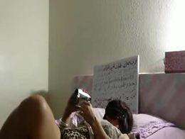 Amateur arab  couple having   sex