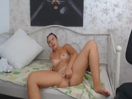 This hot babe gets so horny and gets fucked by her chubby dude in her room You should not misse...